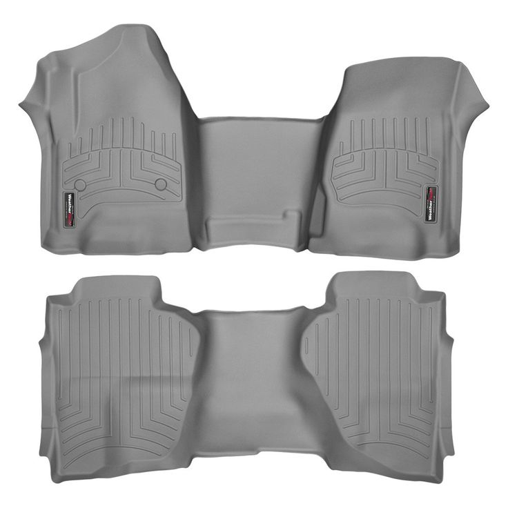 """WeatherTech 465431-465423 Series Grey Front and Rear FloorLiner Over the Hump - FloorLiner(TM) In the quest for the most advanced concept in floor protection, the talented designers and engineers at WeatherTech(R) have worked tirelessly to develop the most advanced floor protection available today! The WeatherTech(R) FloorLiner(TM) accurately and completely lines the interior carpet giving """"absolute interior protection(TM)""""! The WeatherTech(R) FloorLiner(TM) lines the interior carpet up the…"""