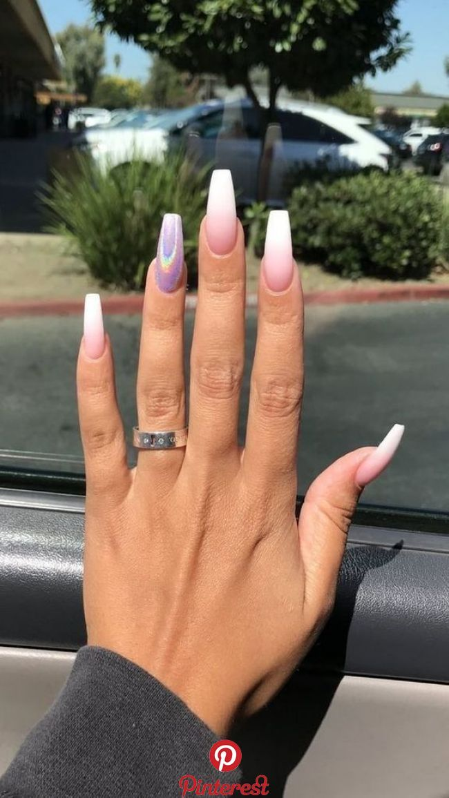 40 Cute Nail Design With A Natural Color Acrylic Nail Shapes Best Acrylic Nails Coffin Nails Designs