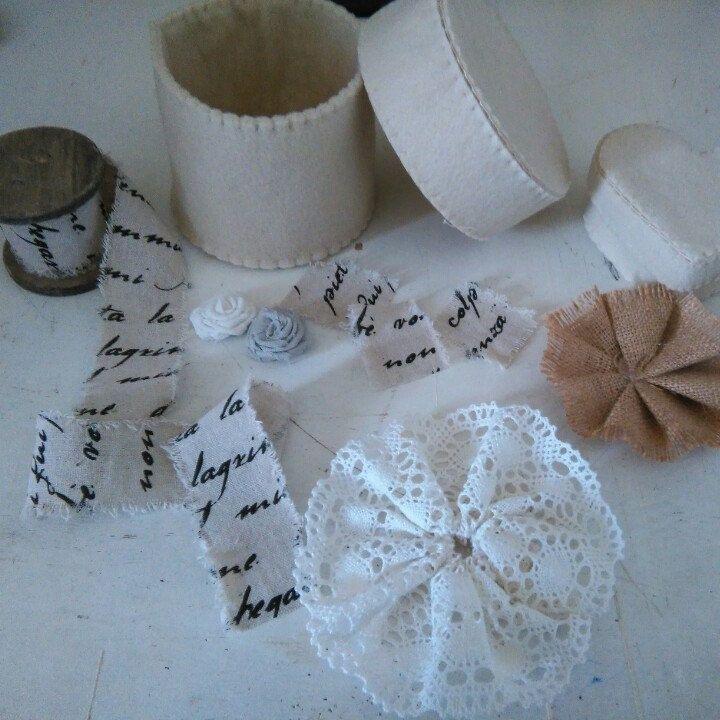 Coming soon!!! vintage and rustic style for this two felt boxes