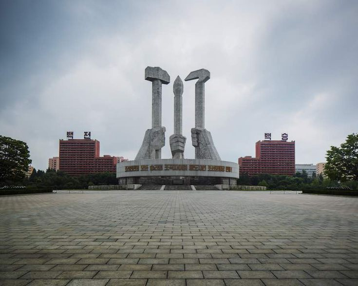 The Workers Party Foundation Monument, Pyongyang - Photo by Raphael Olivier.