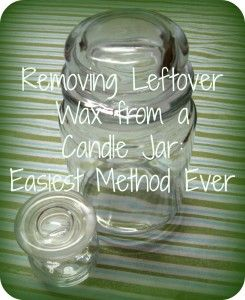 removing leftover wax by just putting it in the freezer instead of going to all the trouble of melting and scraping.