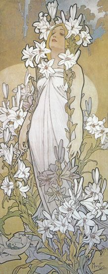 Alphonse Mucha. One of my favorite artists