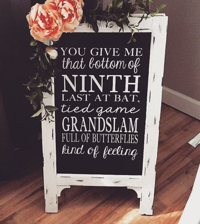 baseball lovers add this awesome baseball quote to personalize your grand slam day⚾️ #wedding #weddingadvisor #weddinginspiration #weddingideas #diywedding #weddingplanning #weddingsign #baseballwife