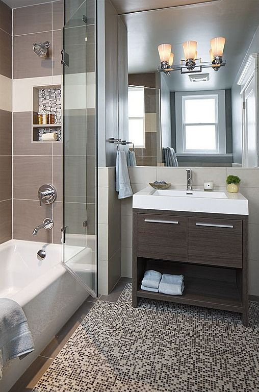 15 must see contemporary grey bathrooms pins modern for Modern guest bathroom designs
