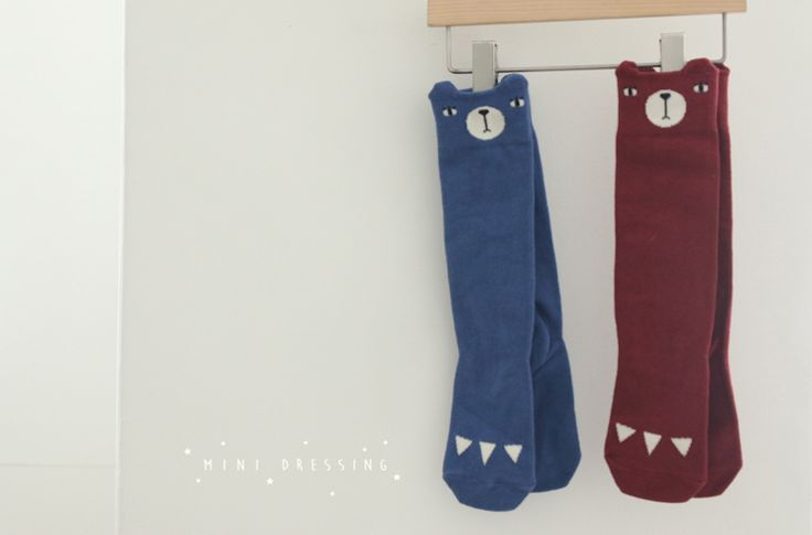 Bear Knee Socks - Mini Dressing (2 colours) - product images  of