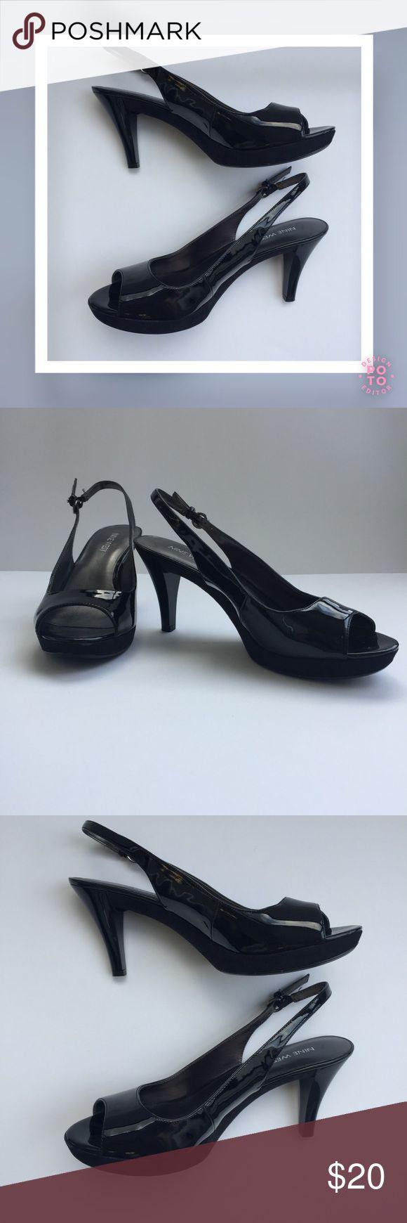 """Selling this NINE WEST """"Karoo"""" Black Patent Slingback Sandals on Poshmark! My username is: amore923. #shopmycloset #poshmark #fashion #shopping #style #forsale #Nine West #Shoes"""