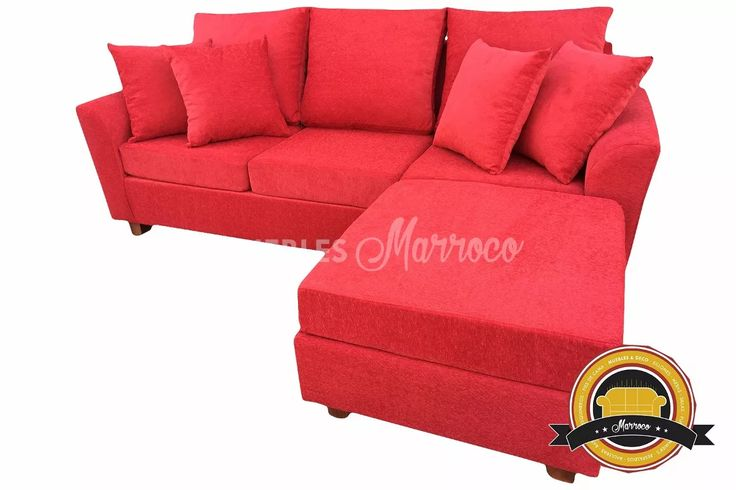 sillón 3 cuerpos chenille almohadones placa soft + camastro