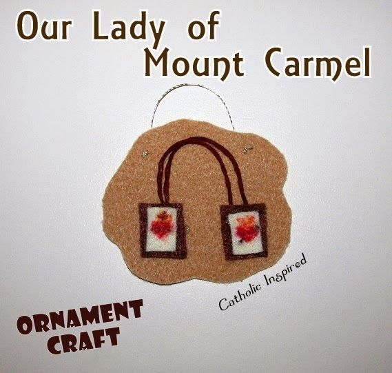 Our Lady of Mount Carmel Craft {Liturgical Ornament}