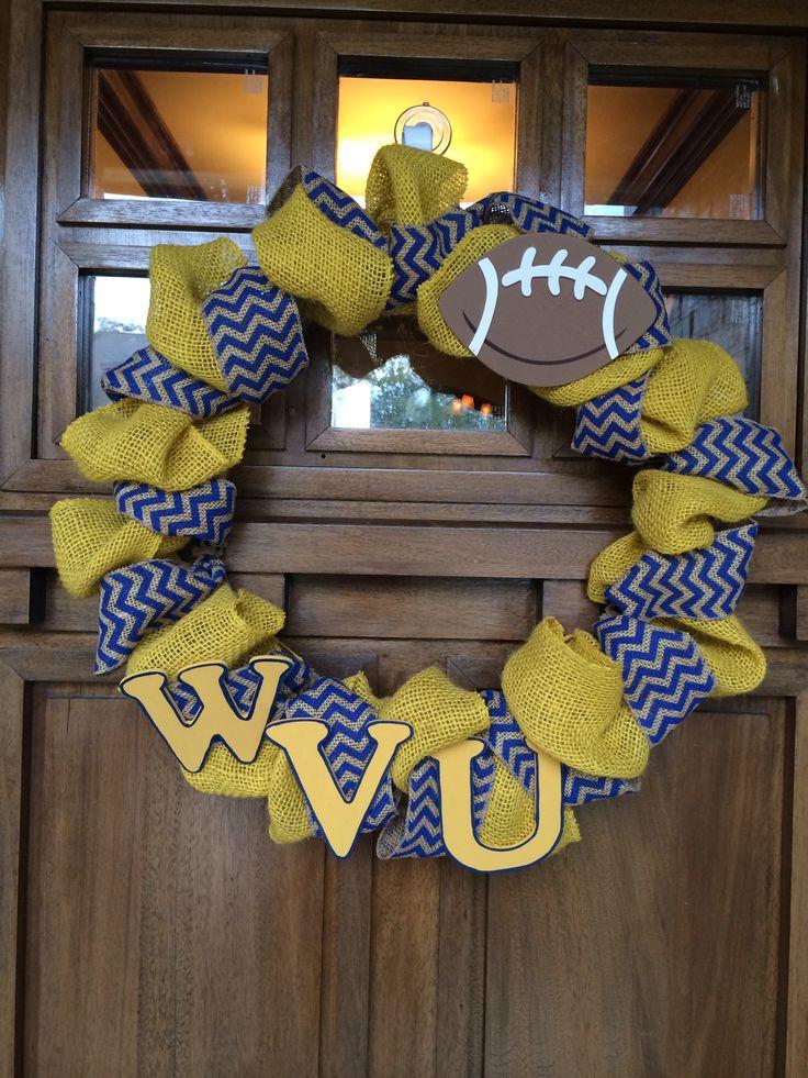 Wvu Burlap Wreath Diy Crafts Wreaths Diy Wreath
