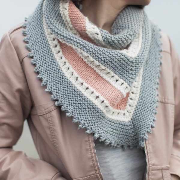 Dawn Skies Shawl in Sumptuous by The Woven, design by Little Yarns