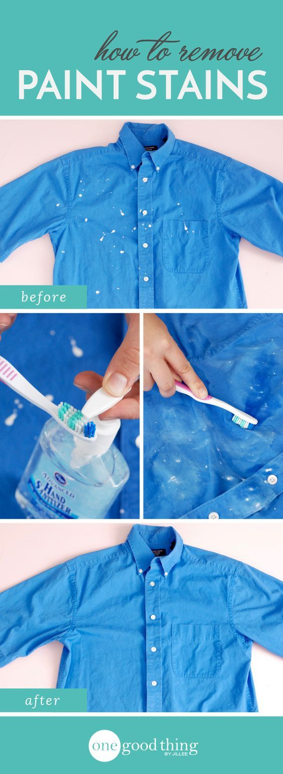 Remove paint splatters from your clothes