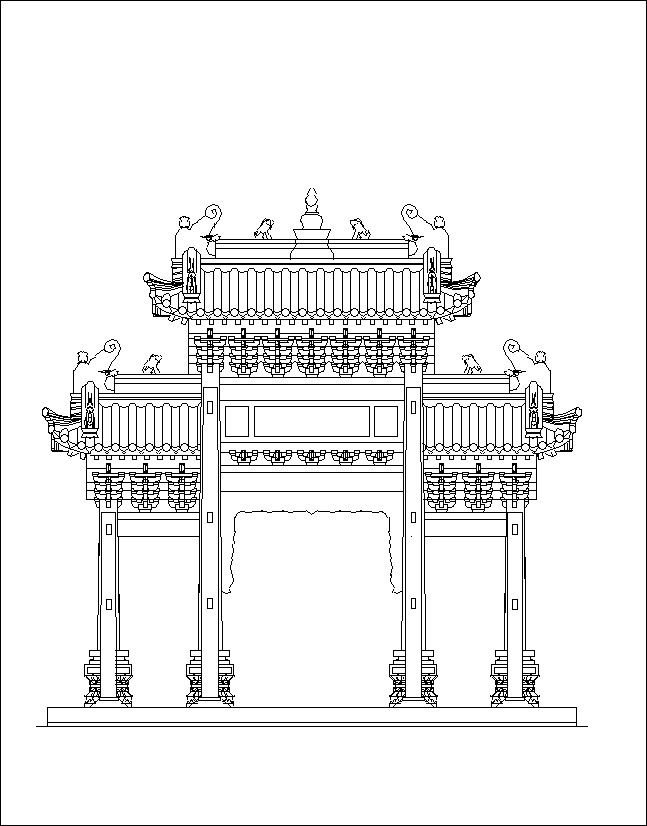 Chinese Architecture CAD Design