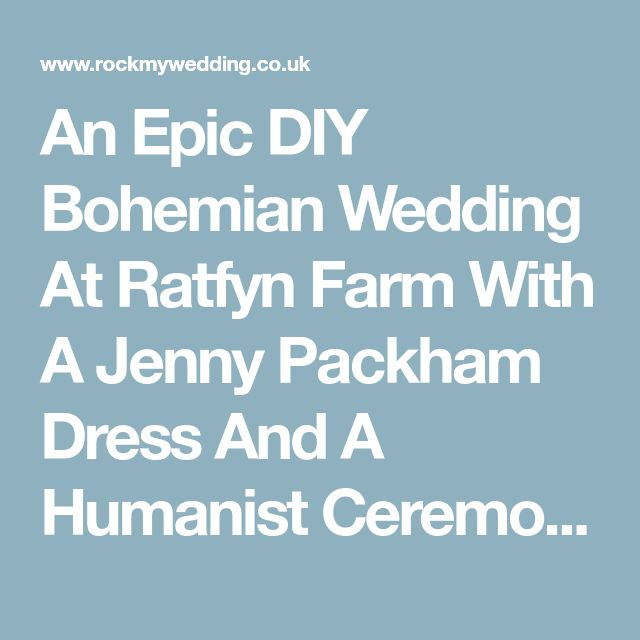 An Epic DIY Bohemian Wedding At Ratfyn Farm With A Jenny Packham Dress And A Humanist Ceremony And A Peach Colour Scheme Photographed By Ed Peers.