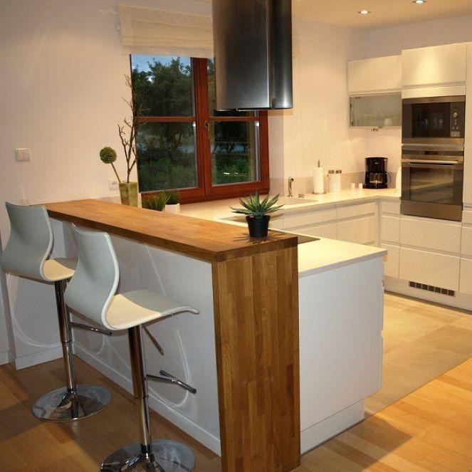 kuchnie białe z drewnem - Szukaj w Google