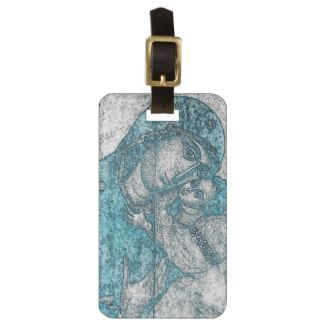 Virgin Mary Baby Jesus Angel Portrait Vintage Blue Tag For Luggage