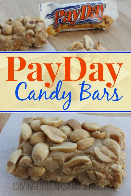 Homemade PayDay Candy Bars.