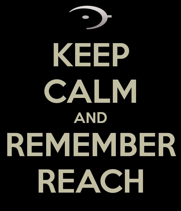 KEEP CALM AND REMEMBER REACH