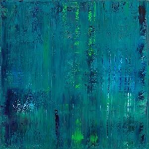 Sea Glass by Patricia Gray Acrylic with resin on panel ~ 36 x 36 in.