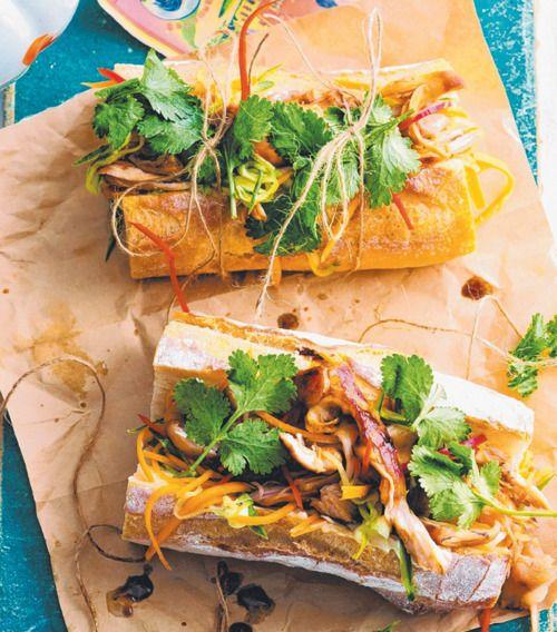 Banh Mi Chicken Vietnamese Rolls Recipe Sandwich Photo Ian Wallace