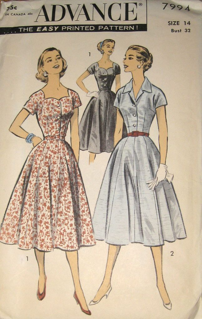 Womens Vintage Advance Patterns at Vintage Clothing