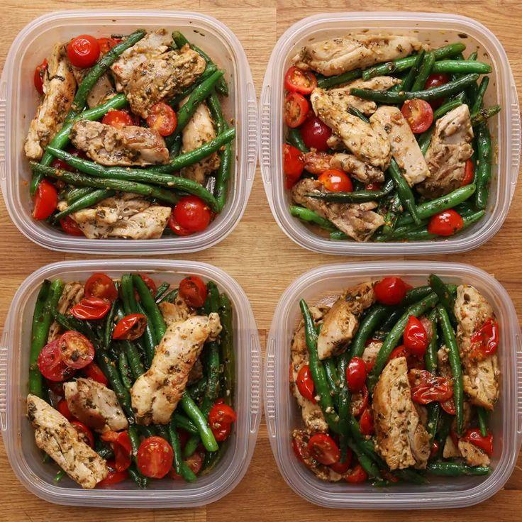 Weekday Meal-prep Pesto Chicken & Veggies Recipe by Tasty