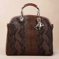 Elegant Women Snake Totes Handbag With Top Handle
