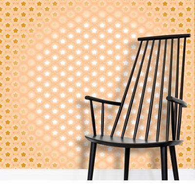 Shiny Star Arabic Pattern Art Wallpaper by Rizwana Khan (@RizwanaKhan) from $53.50 per m² | miPic