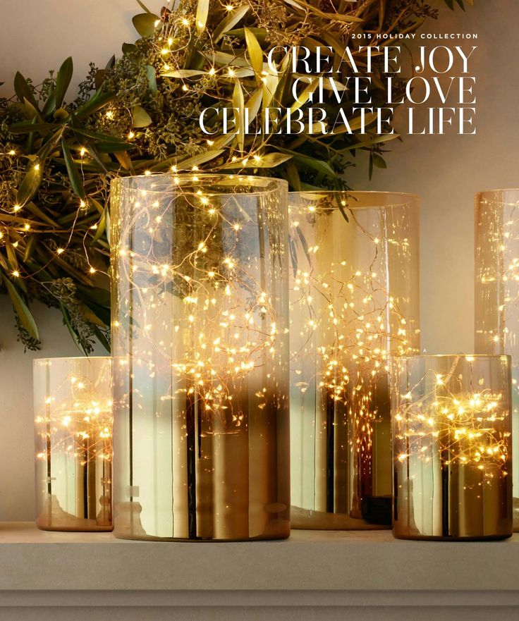 Starry String Lights Gold : Gold smoke glass and twinkly starry string lights Winter Cheer Pinterest String lights ...
