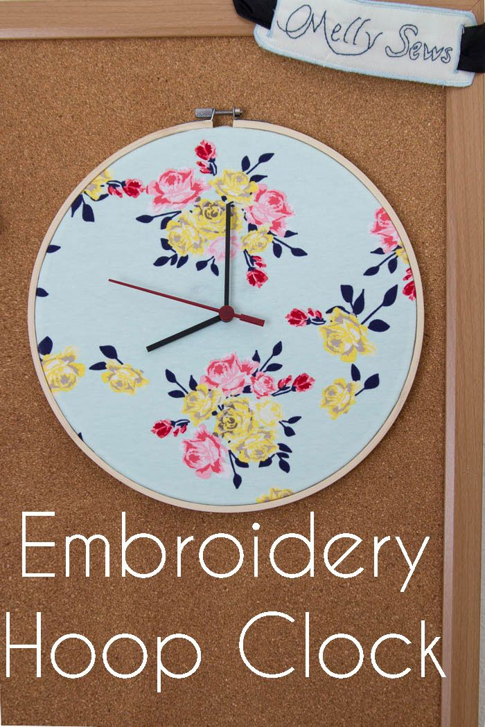 How to make a DIY embroidery hoop clock, which is the perfect clock to have in your sewing room.