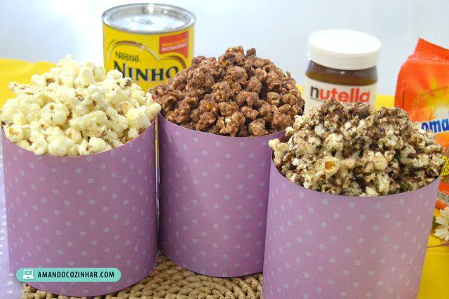 3 Receitas de pipoca doce: Nutella Leite Ninho e Ovovomaltine