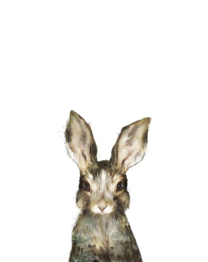 Little Rabbit Art Print by Amy Hamilton | Society6