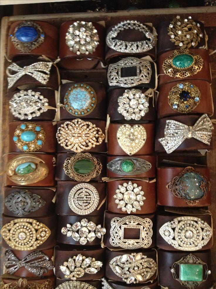 Beautiful cuffs by Made In the Deep South - via Southern Sisters Antiques