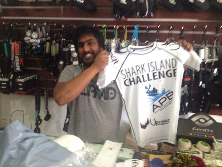 Urobach's APB Shark Island Challenge 2014 rash guard :) yeeeeeew #bodyboardclothing www.urobach.com