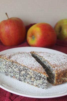 Bajkorada: Ciasto z makiem i jabłkami (na białkach)