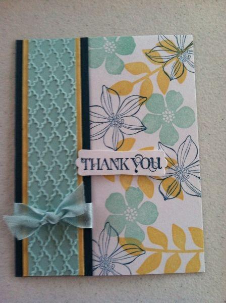 Secret Garden. Flowers stamped over scrapbook paper ...