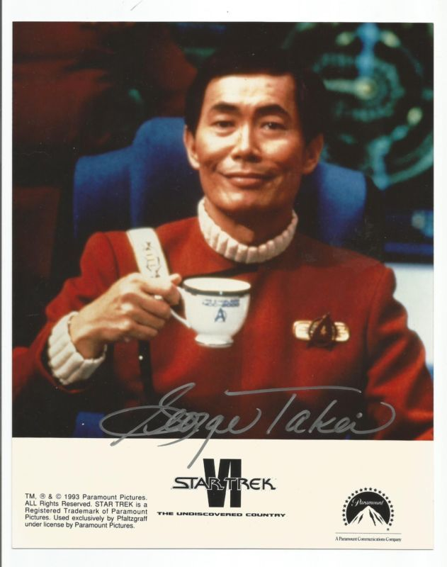 This is an Auction for a 8X10 hand signed photo of George Takei as Captain Sulu on the Federation Star Ship the USS Excelsior in the movie Star Trek V... #hand #signed #autographed #photo #sulu #captain #trek #geroge #takei #star