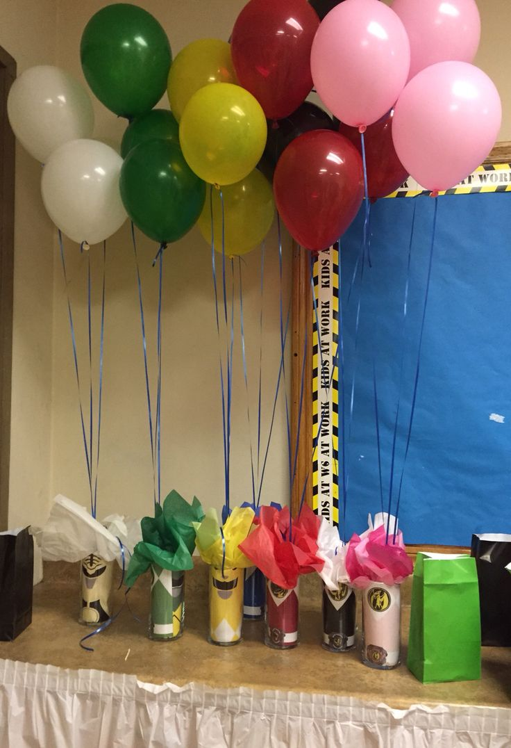 #MMPR Mighty Morphin Power Rangers Custom Center Pieces and Balloons