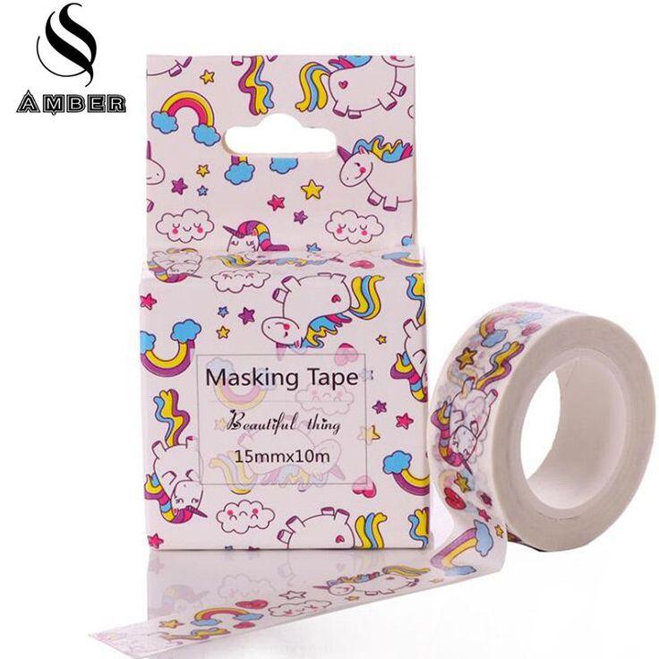 Cute Lot kawaii Trojan Horse Rainbow Animals Decorative Washi Tape DIY 10M Scrapbooking Masking Tape School Office Supply M15