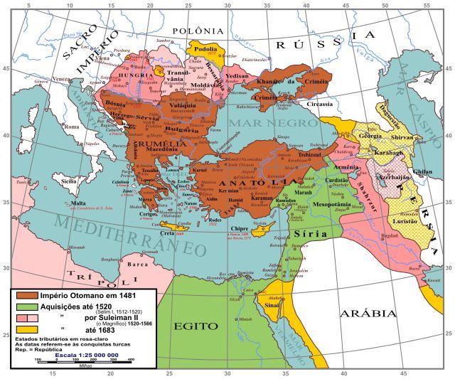 Localização de Império Otomano