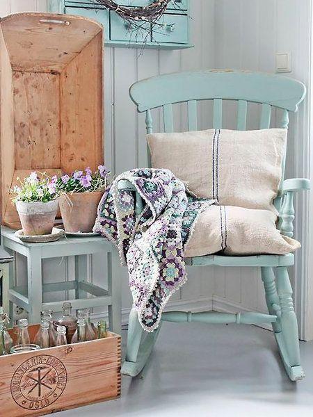 Las 25 mejores ideas sobre sillas mecedoras en pinterest y - Cojines para mecedoras ...