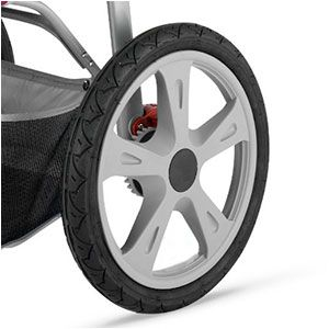jogging stroller wheel with plastic spokes