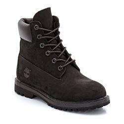 Boots en cuir, à revers, à lacets TIMBERLAND