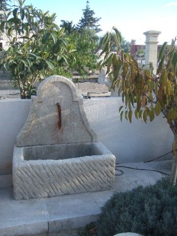 Limestone fountain