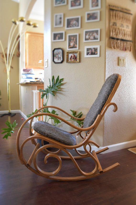 vintage bentwood rocker / rocking chair / glider / thonet style
