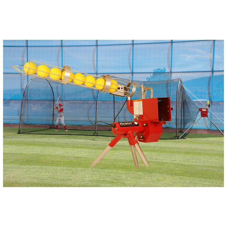 Heater Sports 24 ft. Softball Pitching Machine & Xtender Batting Cage Package | from hayneedle.com