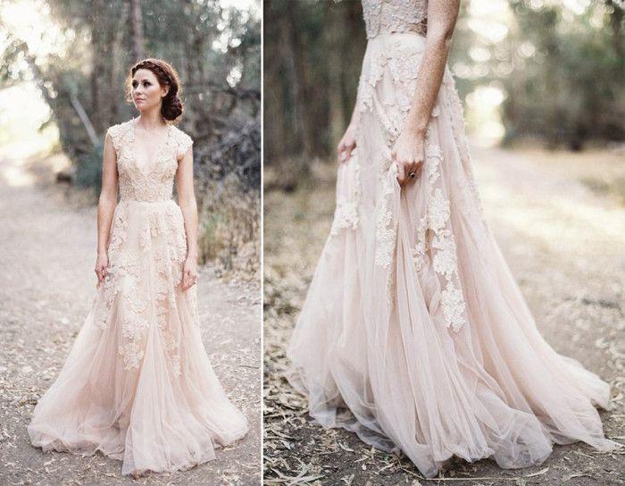 11 fina brudklänningar i andra nyanser än vitt