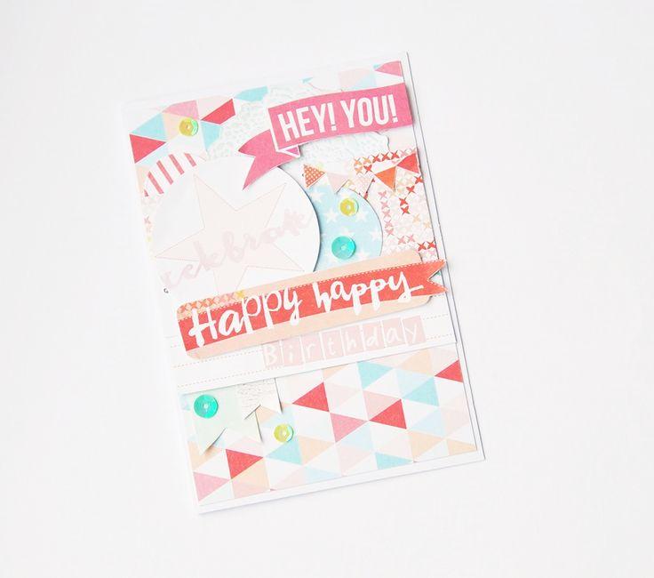 Birthday pastel card , handmade , diy , scrapbooking , studiotekturek