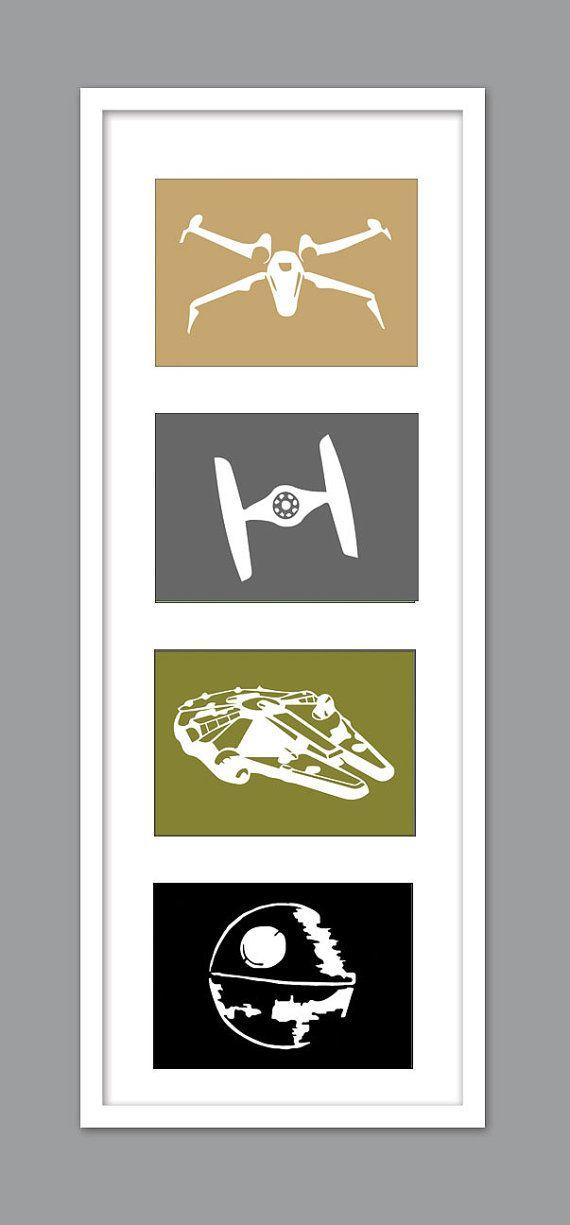 4 Star Wars Schiff Silhouetten für von DesignCreatives auf Etsy