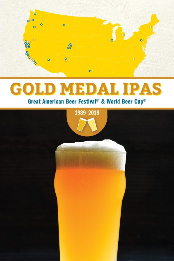 These Are The Gold Medal Ipas From 1989 2018 Infographic American Beer Gold Medal Beer Festival