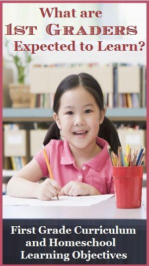 What are 1st graders expected to learn?  Homeschool learning objectives and top curriculum choices.